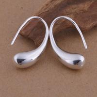 Messing Tropfen Ohrringe, versilbert, für Frau, frei von Blei & Kadmium, 6x23mm, verkauft von Paar