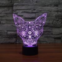 Nacht LED-Licht neben 3D-Lampe, ABS Kunststoff, Katze, automatisch die Farbe wechseln & verschiedene Stile für Wahl & verschiedene Muster für Wahl, verkauft von setzen