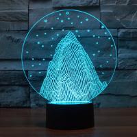 Nacht LED-Licht neben 3D-Lampe, ABS Kunststoff, mit Acryl, automatisch die Farbe wechseln & verschiedene Stile für Wahl, 170x87x208mm, verkauft von setzen
