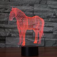 Nacht LED-Licht neben 3D-Lampe, ABS Kunststoff, mit Acryl, Einhorn, automatisch die Farbe wechseln & verschiedene Stile für Wahl & verschiedene Muster für Wahl, verkauft von setzen