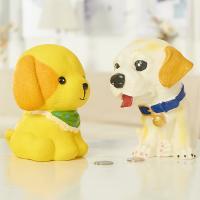 Vinyl Sparbüchse, Hund, Pinselführung, verschiedene Stile für Wahl, verkauft von PC
