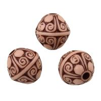 Acryl Perle, rund, Holzimitat, 12x11.50x11.50mm, Bohrung:ca. 0.5mm, ca. 620PCs/Tasche, verkauft von Tasche