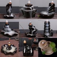 Porcelain Backflow Incense Burner, Porzellan, verschiedene Größen vorhanden & verschiedene Stile für Wahl, 70x12mm-43x140mm, verkauft von PC