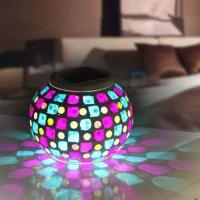 Nachtlampe, High Bor Silizium Glas, rund, Solar angetrieben, 130x100mm, verkauft von PC