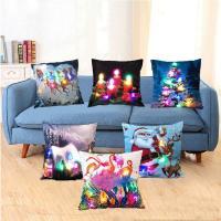 Kissenbezug, Baumwollsamt, Quadrat, Kunstdruck, verschiedene Muster für Wahl, 450x450mm, verkauft von PC
