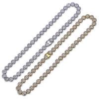Messingkette Halskette, Messing, plattiert, unterschiedliche Länge der Wahl & Micro pave Zirkonia & für den Menschen, keine, 10mm, verkauft von Strang