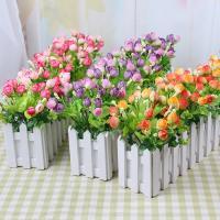Kunststoff mit Seidenblume & Holz, verschiedene Größen vorhanden, keine, verkauft von PC