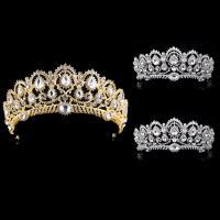 Zinklegierung Tiaras, mit Kristall, Krone, plattiert, für Braut & facettierte & mit Strass, keine, frei von Blei & Kadmium, 70mm, verkauft von PC