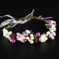 Seidenspinnerei Haarkranz, mit PE Schaumstoff & Satinband, Blume, handgemacht, für Frau, 50x500mm, verkauft von PC