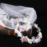 Seidenspinnerei Haarkranz, mit Gaze & PE Schaumstoff, Blume, handgemacht, für Frau, 200mm, verkauft von PC