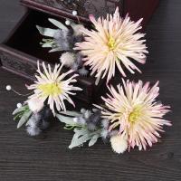 Seidenspinnerei Haarschmuck Blume, mit PE Schaumstoff, handgemacht, für Frau, 70x100mm-110x170mm, verkauft von PC