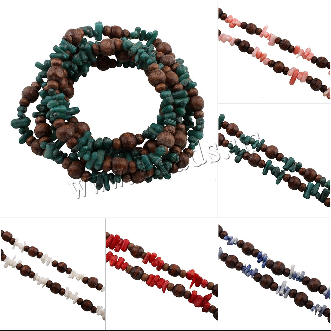Buy Coral Sweater Chain Necklace Natural Coral Coco woman colors choice 9x10x10mm Sold Per Approx 53.5 Inch Strand