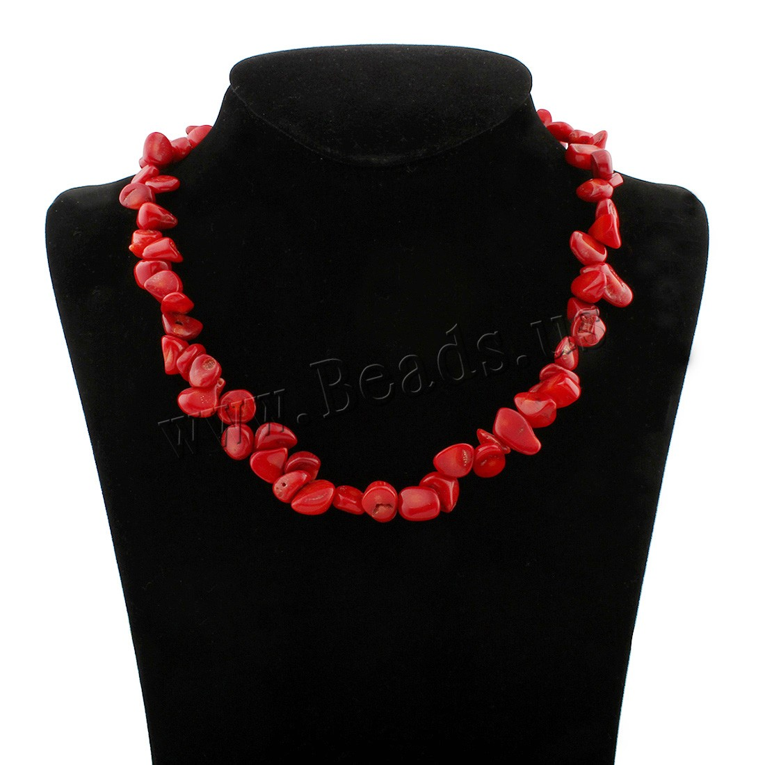 Buy Coral Necklace Natural Coral brass lobster clasp woman colors choice 9x8x5mm-10x17x7mm Sold Per Approx 17 Inch Strand