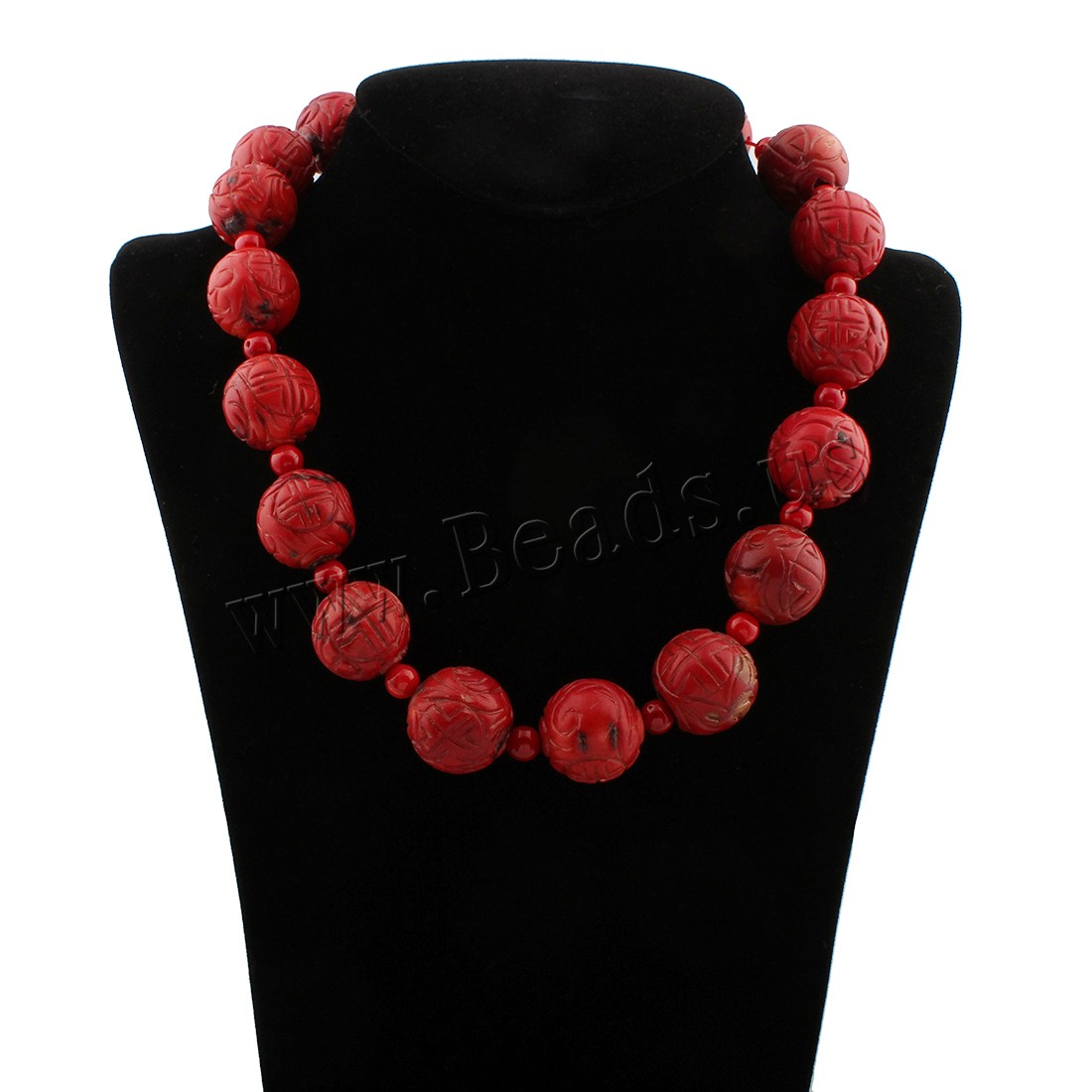 Buy Coral Necklace Natural Coral brass lobster clasp Round woman red 22x22mm Sold Per Approx 18 Inch Strand