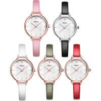 MEIBIN® Damen Schmuck Uhren, Zinklegierung, mit PU Leder & Glas, plattiert, 30 m wasserdicht & einstellbar & für Frau, keine, 31x9mm, 8mm, Länge:ca. 7.5 ZollInch, verkauft von PC