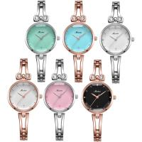 MEIBIN® Damen Schmuck Uhren, Zinklegierung, mit Glas, plattiert, 30 m wasserdicht & für Frau & mit Strass, keine, 26x9mm, 6mm, Länge:ca. 7.6 ZollInch, verkauft von PC