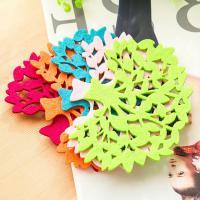 Filz Tasse Pad, Baum des Lebens, gemischte Farben, 100-120mm, 100PCs/Tasche, verkauft von Tasche