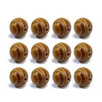 Holzperlen, Holz, rund, verschiedene Größen vorhanden, originale Farbe, Bohrung:ca. 1mm, 100PCs/Tasche, verkauft von Tasche