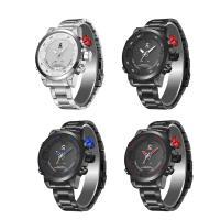 JeiSo® Unisex Uhr, Edelstahl, mit Legierung & Glas, plattiert, glänzend, keine, 50x15.5mm, Länge:ca. 8.5 ZollInch, verkauft von PC