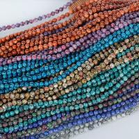Dalmatinische Perlen, Dalmatiner, rund, poliert, keine, 8mm, 47PCs/Strang, verkauft per ca. 15 ZollInch Strang