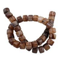 Natürliche Streifen Achat Perlen, Rondell, 9x12x12mm, Bohrung:ca. 1mm, ca. 39PCs/Strang, verkauft per ca. 14 ZollInch Strang