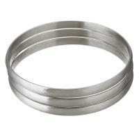 Edelstahl -Armband -Set, gebürstet & für Frau, originale Farbe, 5.50mm, Innendurchmesser:ca. 68mm, 3PCs/setzen, verkauft von setzen