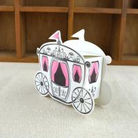 Papier Hochzeit-Candy-Box, Rosa, 90x30x76mm, 100PCs/Menge, verkauft von Menge