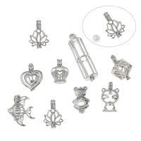 Süßwasserperle Locket Halskette, Messing, Platinfarbe platiniert, verschiedene Stile für Wahl & hohl, frei von Blei & Kadmium, verkauft von PC