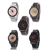 Ehepaar Uhrenarmbänder, Edelstahl, mit Glas, plattiert, unisex & verschiedene Größen vorhanden & verschiedene Muster für Wahl & für paar, verkauft von PC
