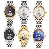 TEVISE® Uhrenkollektion, Edelstahl, mit Zinklegierung Zifferblatt & Glas, plattiert, stem-Winder & für den Menschen & wasserdicht, keine, 40x14mm, Länge:ca. 7.8 ZollInch, verkauft von PC