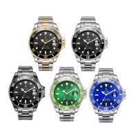 TEVISE® Uhrenkollektion, Edelstahl, mit Zinklegierung Zifferblatt & Glas, plattiert, für den Menschen & wasserdicht & glänzend, keine, 43x14mm, Länge:ca. 9 ZollInch, verkauft von PC