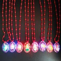 Kunststoff Halskette, flachoval, gemischtes Muster & für Kinder & Weihnachtsschmuck, 320mm, Länge:ca. 12.5 ZollInch, 3SträngeStrang/Menge, verkauft von Menge