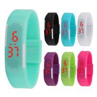 Silikon Armbanduhr, mit Kunststoff, für Kinder & LED, keine, 40x10mm, Länge:ca. 9 ZollInch, verkauft von PC