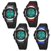 PANARS® Uhrenkollektion, Silikon, mit Kunststoff & Zinklegierung, plattiert, einstellbar & LED & für den Menschen & wasserdicht & glänzend, keine, 48x26.5x16.5mm, Länge:ca. 10.4 ZollInch, verkauft von PC