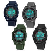 PANARS® Uhrenkollektion, Silikon, mit Kunststoff & Zinklegierung, plattiert, einstellbar & LED & für den Menschen & wasserdicht & glänzend, keine, 50x22.5x17mm, Länge:ca. 10.2 ZollInch, verkauft von PC