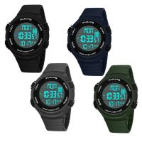 PANARS® Uhrenkollektion, Silikon, mit Kunststoff & Zinklegierung, plattiert, einstellbar & LED & für den Menschen & wasserdicht & glänzend, keine, 50x28x14mm, Länge:ca. 10.4 ZollInch, verkauft von PC