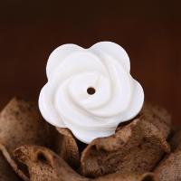 Natürliche weiße Muschelperlen, Blume, 2x17mm, Bohrung:ca. 1mm, verkauft von PC