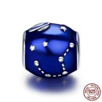925 Sterlingsilber European Perlen, 925 Sterling Silber, Trommel, ohne troll & Emaille, 10x10mm, Bohrung:ca. 4.5-5mm, verkauft von PC