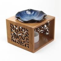 Porzellan mit Holz, verschiedene Muster für Wahl & hohl, 120x120x90mm, verkauft von PC