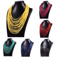 Gewachste Hanfschnur Halskette, für Frau & Multi-Strang, keine, 42cm, verkauft per ca. 16.5 ZollInch Strang
