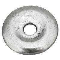 Zinklegierung Verbindungsring, flache Runde, antik silberfarben plattiert, frei von Nickel, Blei & Kadmium, 25x4mm, Bohrung:ca. 5mm, 50PCs/Menge, verkauft von Menge