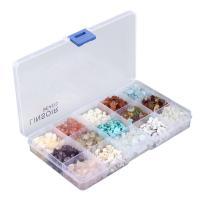 Mischedelstein Perlen, Edelstein, gemischt, 5-8mm, Bohrung:ca. 0.5-1mm, ca. 1050-1350PCs/Box, verkauft von Box