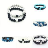 Edelstein Armband, verschiedenen Materialien für die Wahl & unisex & für paar, 8mm, Länge:ca. 7 ZollInch, 2SträngeStrang/setzen, verkauft von setzen