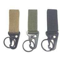 Nylon Karabiner Schlüsselanhänger, mit Zinklegierung, gemischte Farben, 132x82x52mm, 3PCs/Menge, verkauft von Menge