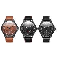 RISTOS® Uhrenkollektion, PU Leder, mit Glas & Edelstahl, schwärzen, einstellbar & für den Menschen, keine, 47x12mm, Länge:ca. 10 ZollInch, verkauft von PC