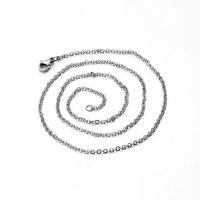 Halskette, Edelstahl, unisex & verschiedene Größen vorhanden & Oval-Kette, originale Farbe, verkauft von Strang