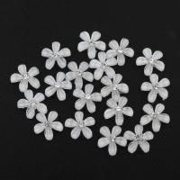 Mode Dekoration Blumen, Acryl, mit Strass, 10x10x2mm, 100PCs/Tasche, verkauft von Tasche