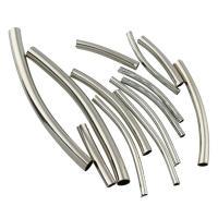 Eisen gebogene Rohr Perlen, gebogenes Rohr, Platinfarbe platiniert, verschiedene Stile für Wahl, frei von Blei & Kadmium, Bohrung:ca. 1-3mm, verkauft von Tasche