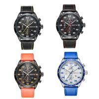 RISTOS® Uhrenkollektion, PU Leder, mit Glas & Edelstahl, plattiert, einstellbar & für den Menschen, keine, 46x13mm, Länge:ca. 10 ZollInch, verkauft von PC