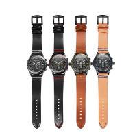 RISTOS® Uhrenkollektion, PU Leder, mit Glas & Edelstahl, schwärzen, einstellbar & für den Menschen, keine, 44x12mm, Länge:ca. 9 ZollInch, verkauft von PC